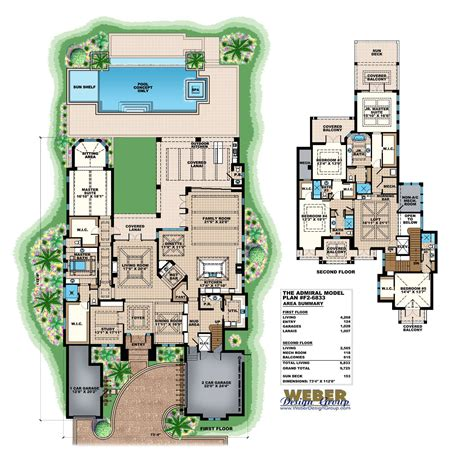 florida house plans architectural designs stock