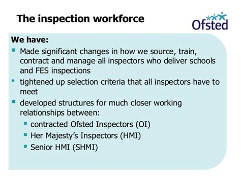 section 5 ofsted inspection derby teaching schools alliance changes to school inspection