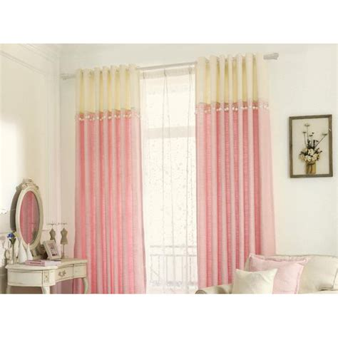 pink and yellow curtains pink and yellow jacquard poly cotton blend color block