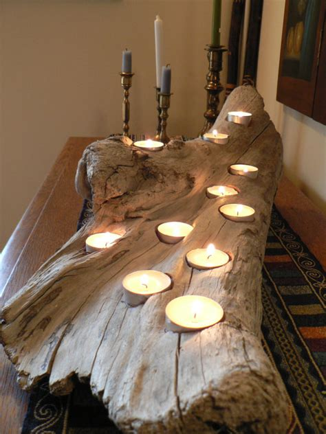driftwood rustic candle holder large driftwood candle