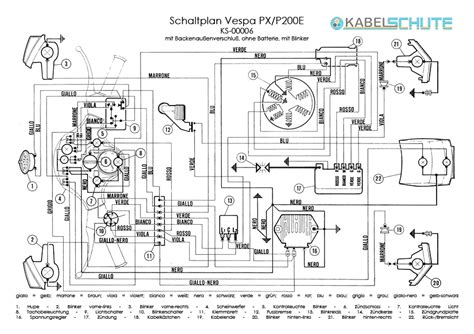 vespa px wiring diagram wiring diagram and schematics