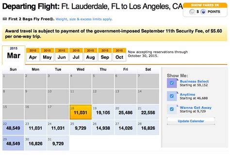 Low Fare Calendar Low Fares Flight Info