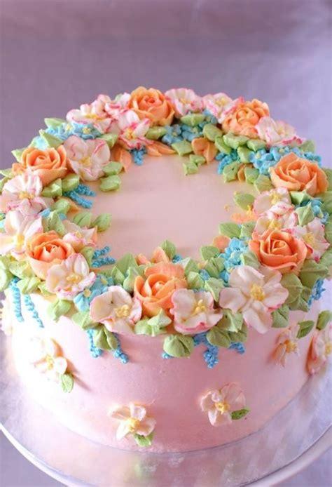 Flower Garden Cake Cakes Pinterest Quot Quot Cake With Buttercream Flowers Cake By La Zina Cakes Cakesdecor