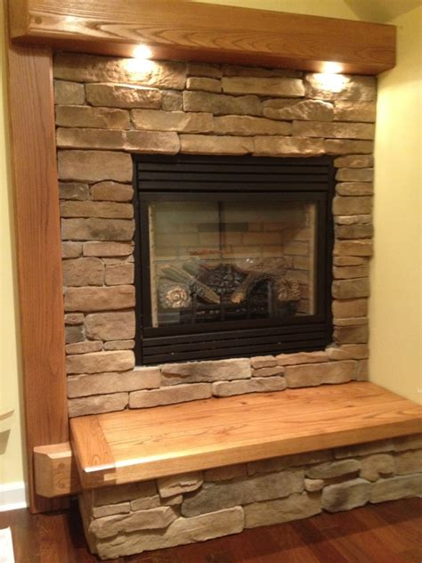 Fireplace Mantle With Undermount Lighting Lights In Fireplace