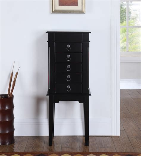 black jewelry armoire clearance peyton jewelry armoire black