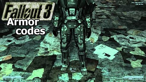 fallout 3 console cheats fallout 3 armor codes