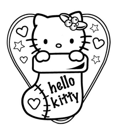 hello kitty coloring pages full size hello kitty christmas coloring sheets