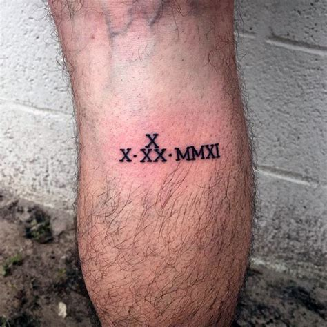 small roman numeral tattoos 100 numeral tattoos for manly numerical ink ideas