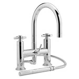 Held Shower For Bathtub Faucet by Stylish Deck Mounted Tub Filler Faucet With Held