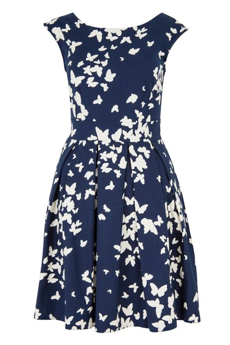 Sale Summer Dress Import 9036 Blue Print S M L Xl closet butterfly print dress from east by