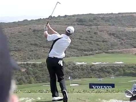 jack nicklaus slow motion swing john senden golf swing iron slow motion volvo world