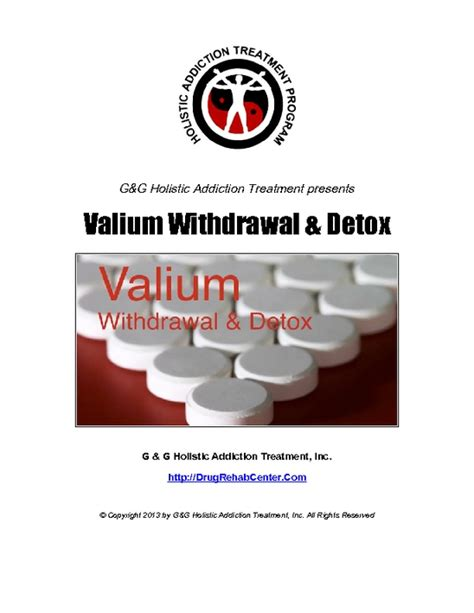 Valium Detox Duration by Valium Withdrawal And Valium Detox Pdfsr