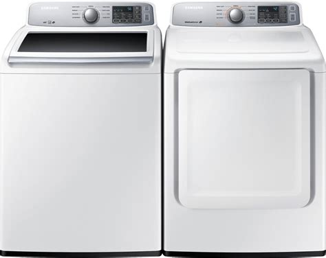 samsung 5 2 cu ft top load washer and 7 4 cu ft electric dryer white freedom rent to own