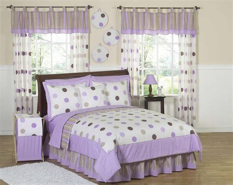 kids bedding sets girls purple amp brown polka dot circle bedding twin full queen