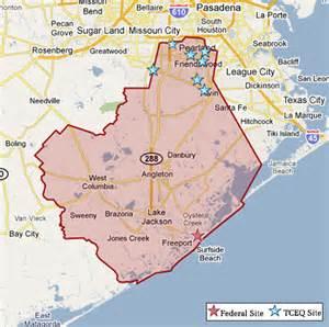 map of brazoria county superfund in brazoria county tceq www tceq gov