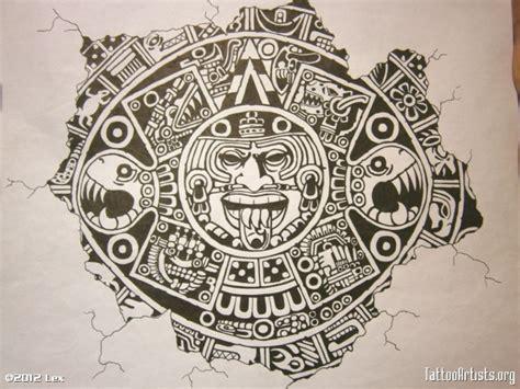 tattoo flash calendar aztec calendar tattoos designs aztec calendar