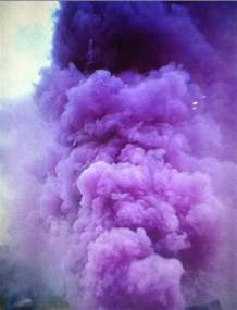 color bomb purple clouds on
