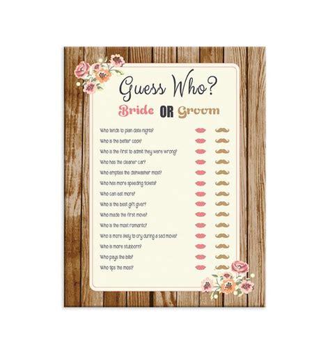 guess who bridal shower printable printable bridal shower guess who
