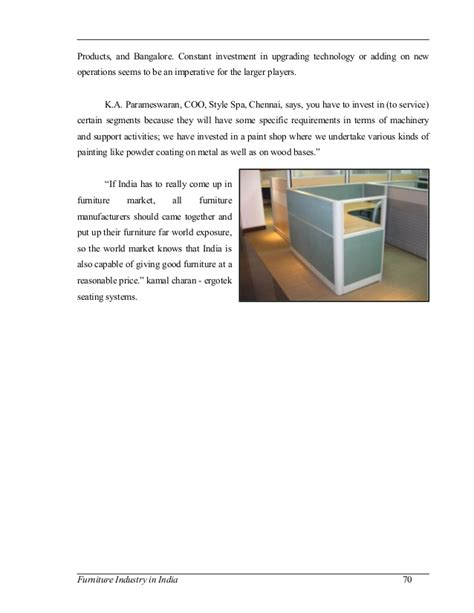 furniture industry furniture industry in india