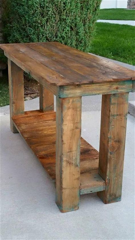 Pallet Console Table Pallet Console Table End Table Sofa Table 99 Pallets
