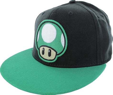 up hat mario 1 up black flex hat