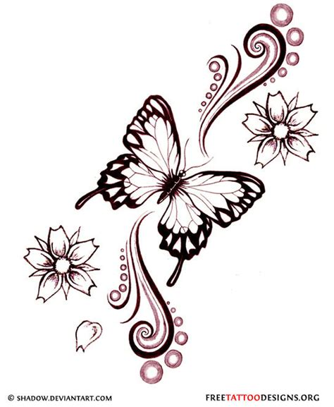 design flower and butterfly 60 butterfly tattoos feminine and tribal butterfly