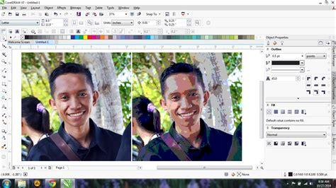 tutorial membuat foto menjadi kartun di corel cara membuat foto menjadi kartun corel draw x4 cara