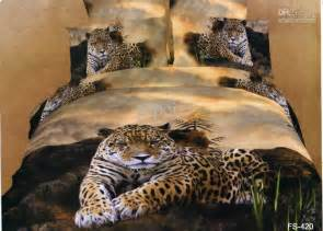 Leopard Bedding Sets King 3d Leopard Animal Print Bedding Set King Size