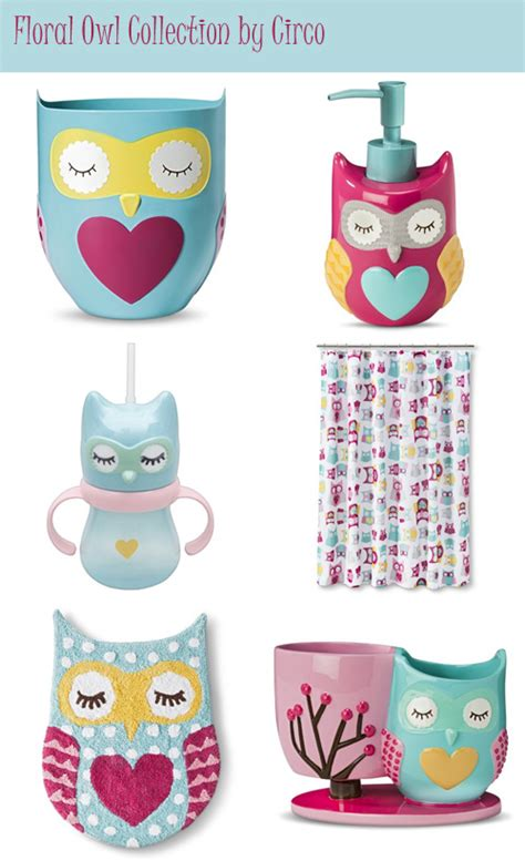 Owl Bathroom Accessories My Owl Barn Quot Floral Owl Quot Bath Accessories