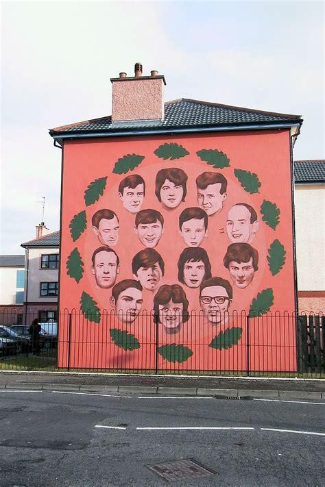 Belfast Wall Murals bloody sunday 42 years after bogside massacre british