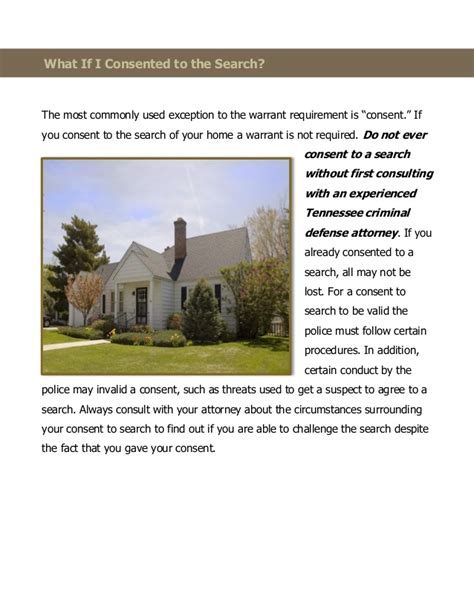 Defective Search Warrant Search And Seizure Basics What Happens When The Conduct An I