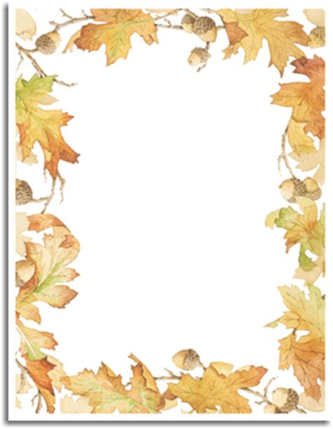 printable autumn stationery fall paper fall stationery for special events
