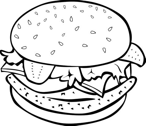 chicken sandwich coloring page free vector graphic burger sandwich hamburger free