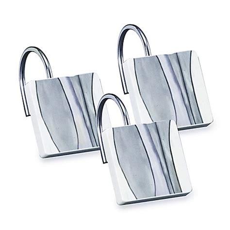 blue shower curtain hooks shell rummel tidelines shower curtain hooks in blue set