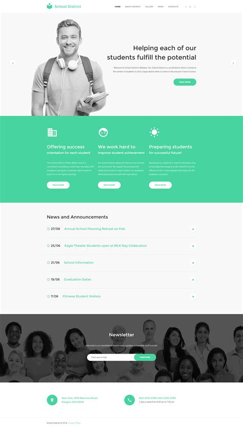 html education templates education responsive website template 58512