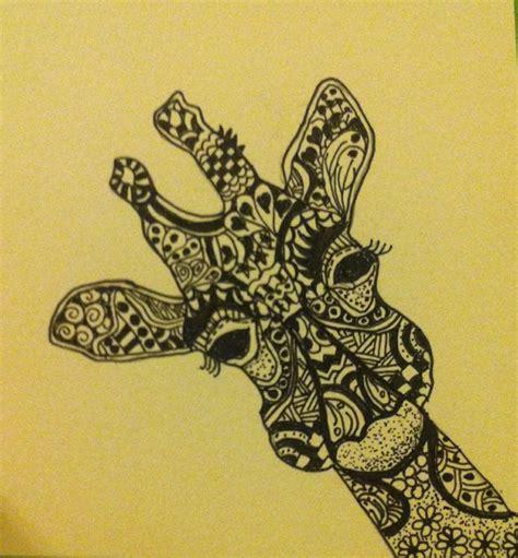 zentangle pattern giraffe zentangle giraffe my artwork pinterest giraffe