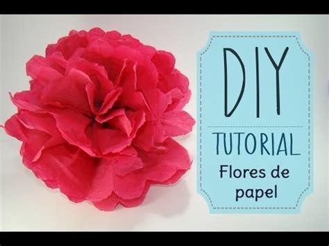 como hacer flores de papel crepe faciles y bonitas youtube diy tutorial como hacer flores de papel crepe o china