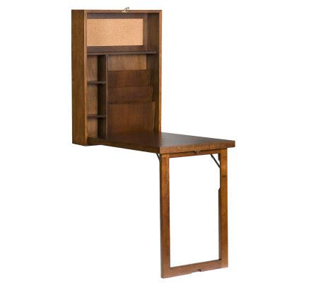 Murphy Style Desk by Home Reflections Murphy Style Desk Walnut Finish Qvc