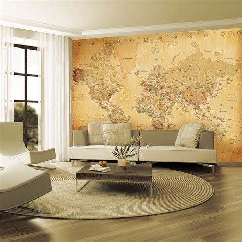 7 beautiful world map decor ideas for walls vintage world map 1 wall murals touch of modern