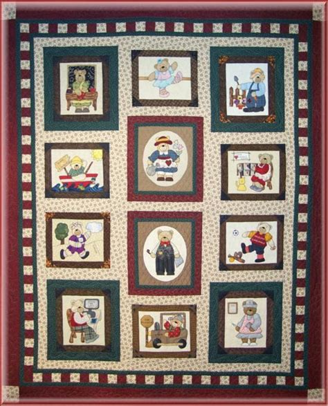Family Picture Quilt by Bom Family Album Quilt