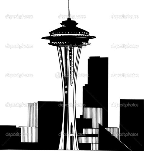 10 images of seattle space needle coloring page seattle