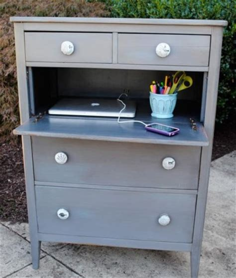 Dresser And Desk by Repurpose A Dresser Into A Mini Desk Chaos To Order Chicago Professional Organizing Experts
