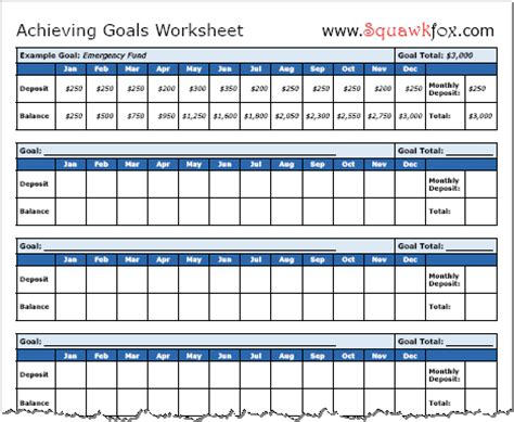 Goals Spreadsheet by How To Set Financial Goals And Reach Them Squawkfox