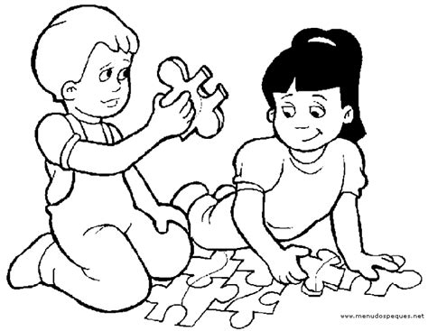 imagenes de niños jugando sin colorear ni 241 os jugando para colorear e imprimir imagui