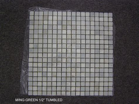 ming green marble tile homesfeed ming green 1 2 tumbled onlinestonecatalog