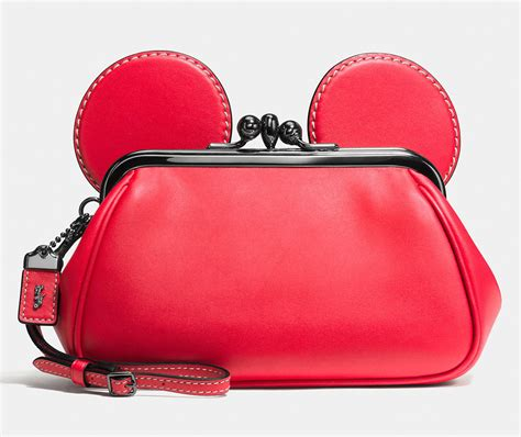 minnie mouse coach wristlet coach debuts new collection with disney featuring mickey