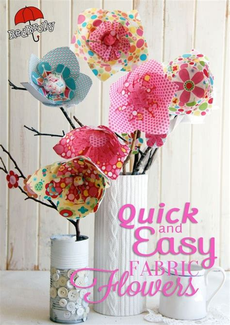fabric crafts quick and easy fabric flowers by brolly d i y craft