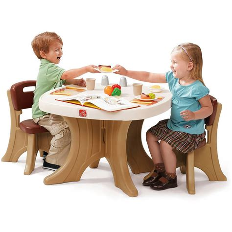 Toddler Plastic Chair - table and 2 chairs set lightweight molded plastic