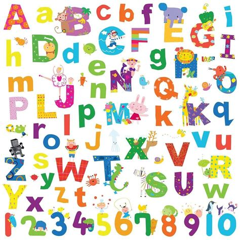 alphabet lazoo letters 72 wall decals school numbers abc room decor stickers ebay