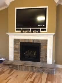 rock fireplace fireplace mantle redo ideas